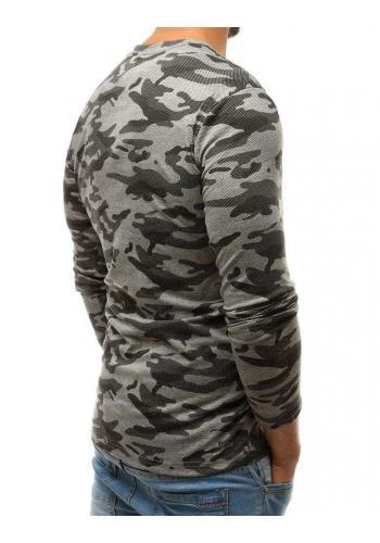 Maskáčové pánské tričko světle šedé barvy s dlouhým rukávem