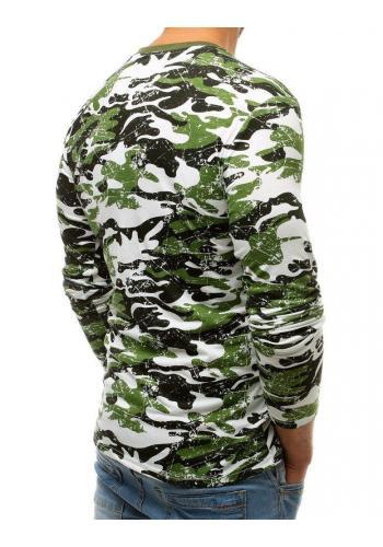 Pánské maskáčové tričko s potiskem v zelené barvě