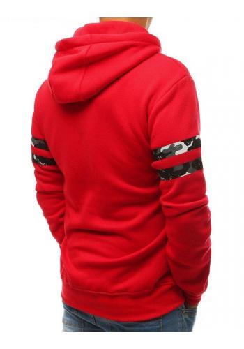 Červená sportovní mikina s potiskem pro pány