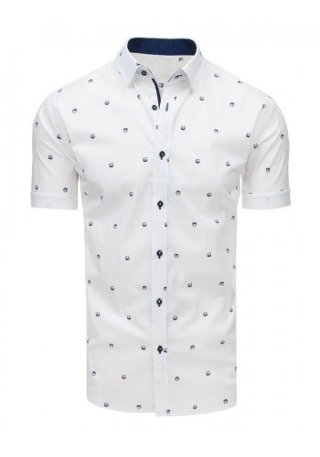 Módní pánská košile bílé barvy s motivem pandy