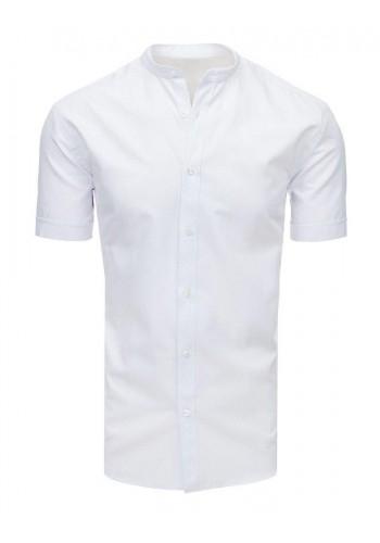 Bílá módní košile s krátkým rukávem pro pány