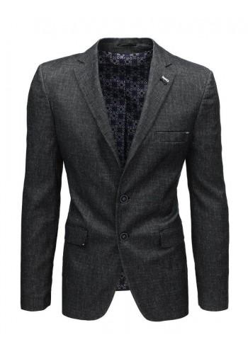 Jednořadé pánské sako tmavě šedé barvy