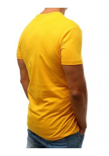 Sportovní pánské tričko žluté barvy s potiskem