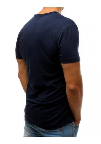 Tmavě modré sportovní tričko s potiskem pro pány