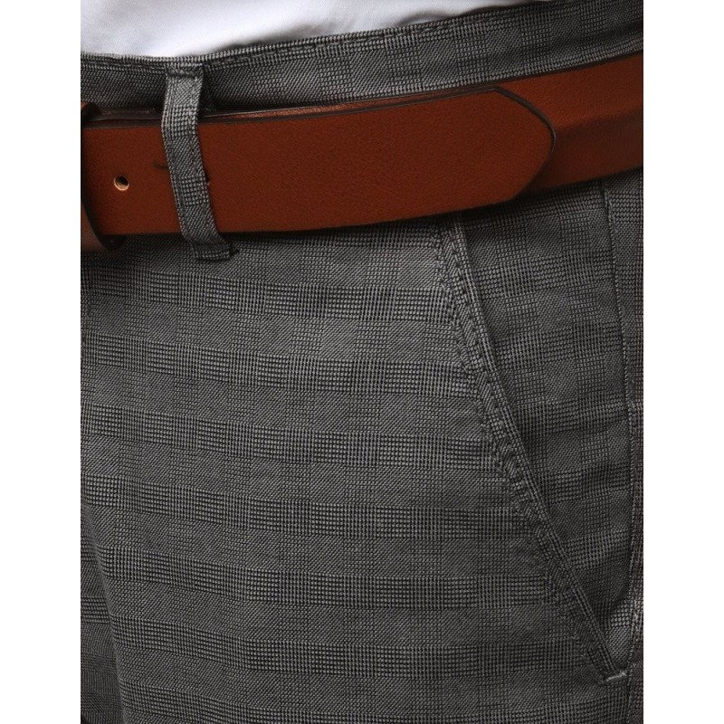 Pánské elegantní kalhoty Chinos v šedé barvě