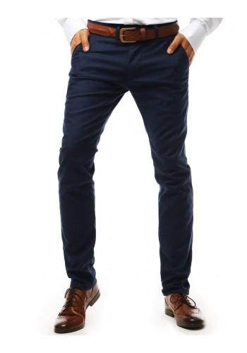 Elegantní pánské kalhoty Chinos tmavě modré barvy