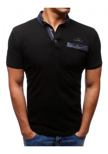 Pánská bavlněná polokošile v černé barvě