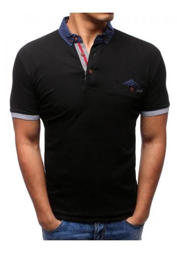 Stylová pánská polokošile černé barvy
