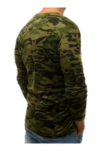 Zelené maskáčové tričko s dlouhým rukávem pro pány