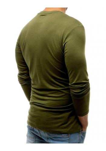 Módní pánské tričko zelené barvy s potiskem