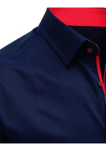 Pánská elegantní košile s krátkým rukávem v tmavě modré barvě