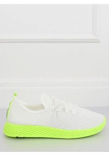Sportovní dámské tenisky bílo-žluté barvy se síťkou