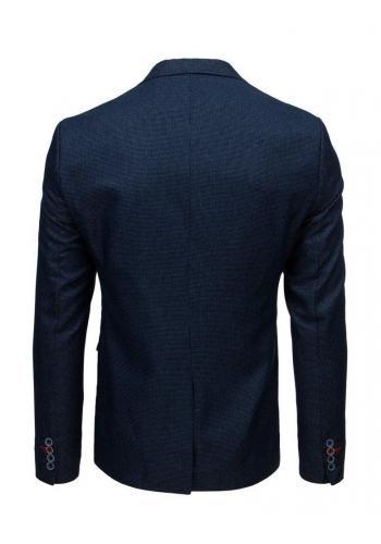 Tmavě modré jednořadé sako s jedním knoflíkem pro pány