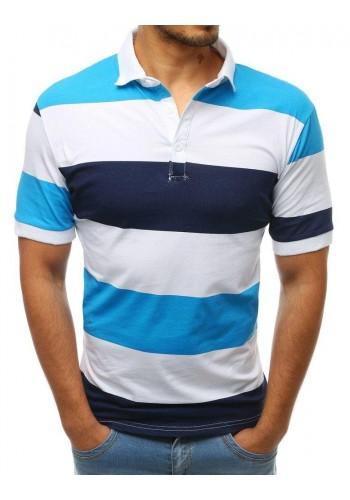 Modro-bílá pásikavá polokošile pro pány