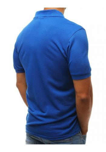 Modrá klasická polokošile pro pány