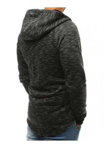 Módní pánská mikina šedé barvy s kapucí