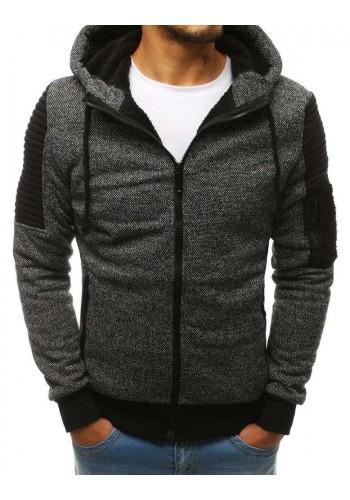 Pánské stylové mikiny s kapucí v šedé barvě