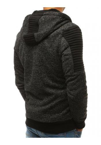Stylová pánská mikina černé barvy s kapucí