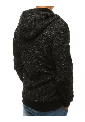 Pánská módní mikina s kapucí v černé barvě