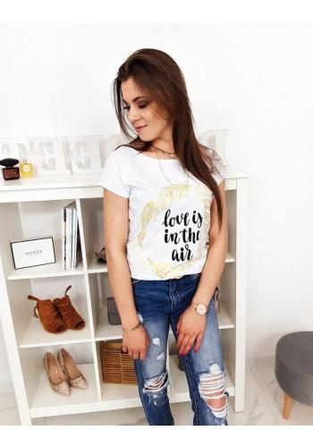Bílé módní tričko s potiskem pro dámy