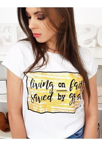 Bílé stylové tričko s potiskem pro dámy