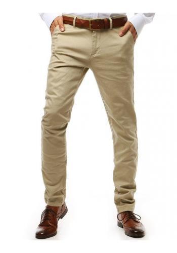 Pánské elegantní kalhoty Chinos v světle béžové barvě