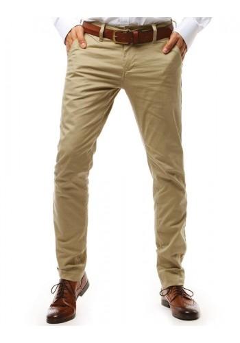 Béžové módní kalhoty Chinos pro pány