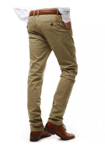 Klasické pánské kalhoty Chinos béžové barvy