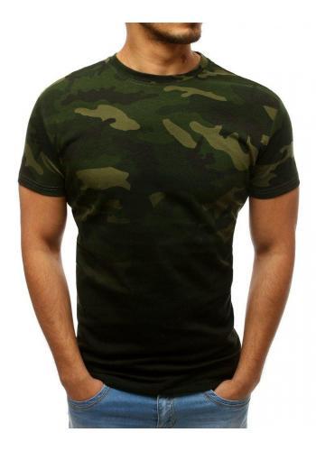 Zelené maskáčové tričko s krátkým rukávem pro pány