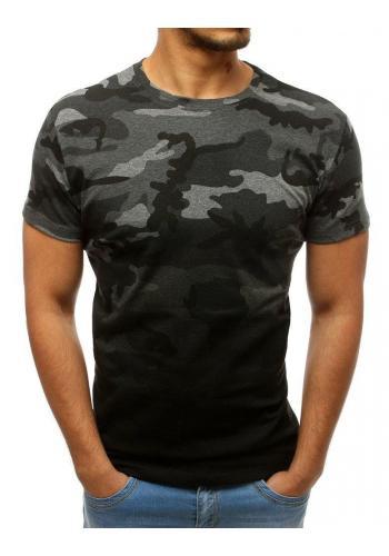 Maskáčové pánské tričko tmavě šedé barvy s krátkým rukávem