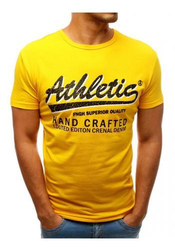 Žluté sportovní tričko s potiskem pro pány