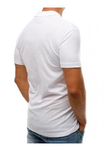 Bílá klasická polokošile pro pány