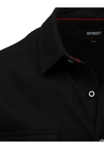 Černá klasická košile s dlouhým rukávem pro pány