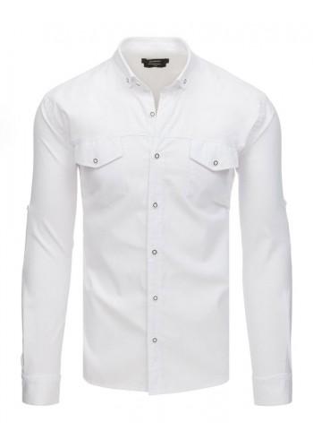 Bílá neformální košile s dlouhým rukávem pro pány