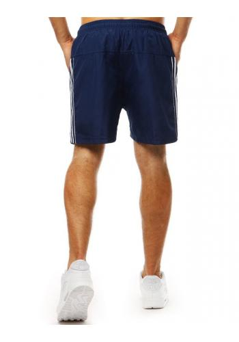 Tmavě modré módní kraťasy na koupání pro pány
