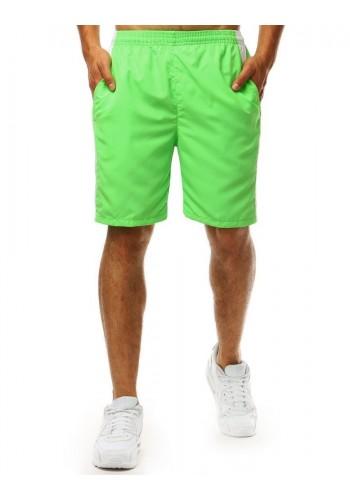 Klasické pánské kraťasy zelené barvy na koupání