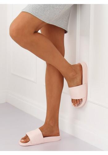 Dámské pěnové pantofle s tištěným vzorem v růžové barvě