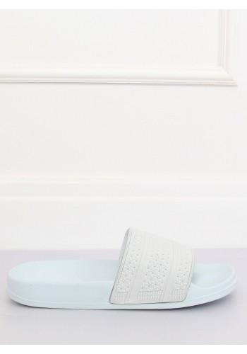 Pěnové dámské pantofle světle modré barvy s tištěným vzorem