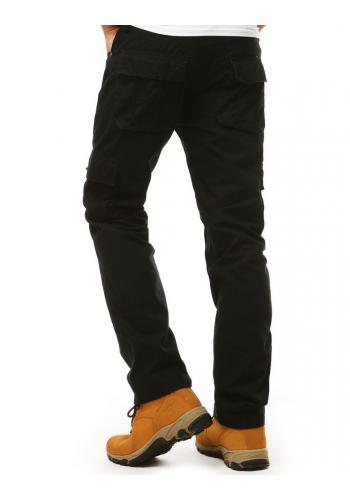 Černé sportovní kalhoty ve vojenském stylu pro pány