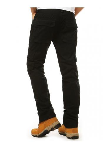 Pánské sportovní kalhoty ve vojenském stylu v černé barvě