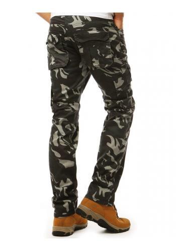 Maskáčové pánské kalhoty černé barvy ve vojenském stylu