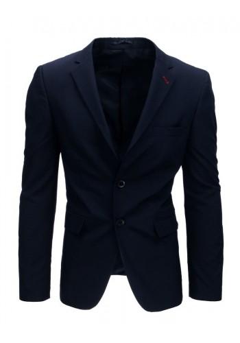 Tmavě modré jednořadé sako pro pány