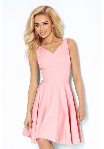 Dámské růžové šaty se srdcovým výstřihem