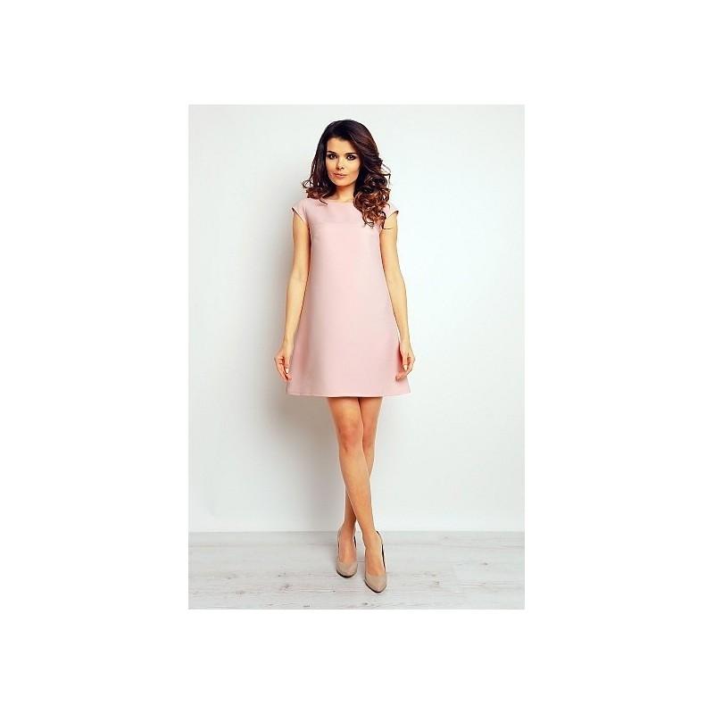 Dámské volné šaty - pastelově růžové
