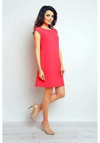 Dámské volné šaty - růžové