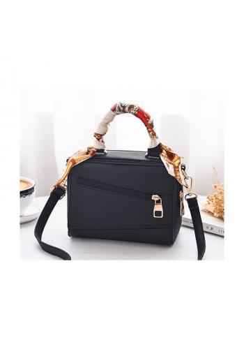 Dámská módní kabelka se šátkem v černé barvě