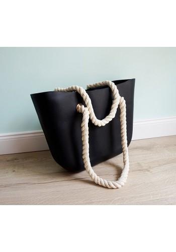 Silikonová kabelka černé barvy pro dámy