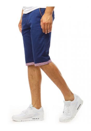 Pánské módní kraťasy v tmavě modré barvě