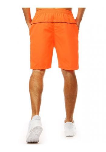 Pánské klasické kraťasy na koupání v oranžové barvě