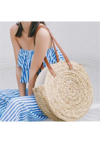 Kulatá kabelka hnědé barvy pro dámy
